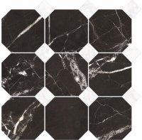Magic Black Oktagon Mix Mozaika 33x33