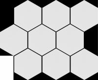 Cerrad Cambia White Lappato Mozaika Heksagon 27,53x33,4