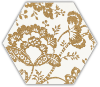 Paradyż Shiny Lines Gold Heksagon Inserto C 19,8x17,1