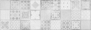 Ceramika Color Roca Grey Patchwork Dekor 25x75
