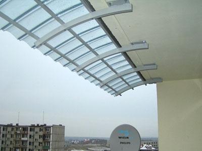 Markiza daszek nad balkon - loggie  240cm