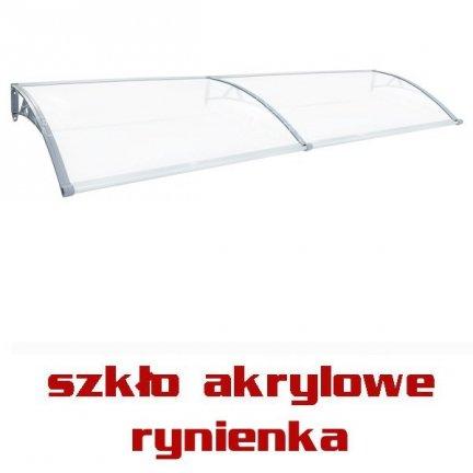 245x92 OXY RYNNA SZKLANY Daszek markiza