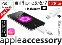 Pamięć FlashDrive do iPhone 5 SE 6 7 Plus 128GB SD Reader