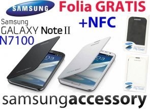 FLIP COVER SAMSUNG GALAXY Note 2 II N7100 Folia