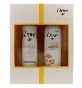 Dove Zestaw prezentowy Elegant Beauty (deo spray Powder Soft 150ml + pianka pod prysznic Argan Oil 200ml)