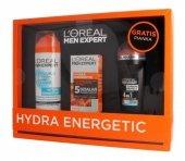 Loreal Zestaw prezentowy Men Expert Hydra Energetic (pianka do gol.200ml+krem nawilż.50ml+deo roll-on 50ml)
