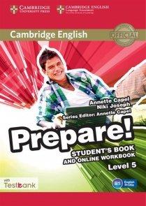 Cambridge English Prepare! 5 Student's Book + Online Workbbok +Testbank