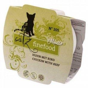 Catz Finefood Mus N.205 Drób/Wołowina tacka 100g