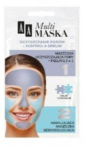 AA Multi Maska Maseczka na twarz oczyszczanie porów+kontrola sebum  2x5ml