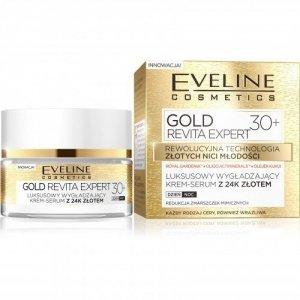 Eveline Gold Revita Expert 30+ Krem-serum wygładzający na dzień i noc  50ml