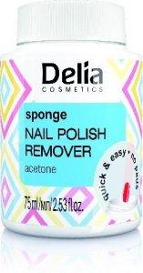 Delia Cosmetics Zmywacz do paznokci z gąbką acetonowy  75ml