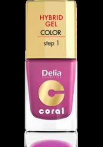 Delia Cosmetics Coral Hybrid Gel Emalia do paznokci nr 21 fuksja 11ml