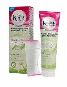 Veet Krem do depilacji skóry Silk & Fresh - skóra sucha  100ml