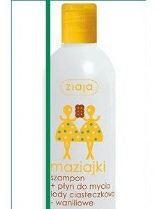 Ziaja Maziajki szampon+płyn do mycia lody ciasteczkowo-waniliowe 400 ml