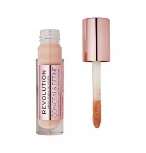 Makeup Revolution Conceal and Define Korektor w płynie C9