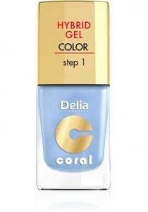 Delia Cosmetics Coral Hybrid Gel Emalia do paznokci nr 09 błękit 11ml