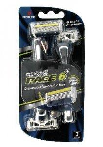 Dorco Pace 6+ Maszynka jednorazowa męska + trymer - 6 ostrzy  1op.-3szt