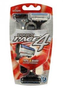 Dorco Pace 4 Maszynka jednorazowa męska - 4 ostrza  1op.-3szt