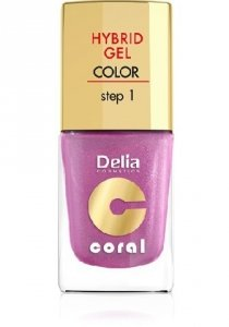 Delia Cosmetics Coral Hybrid Gel Emalia do paznokci nr 30  11ml
