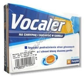 VOCALER x 12 pastylek do ssania
