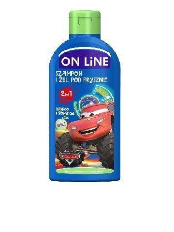 On Line Disney Cars Szampon i żel pod prysznic 2w1 jabko  250ml