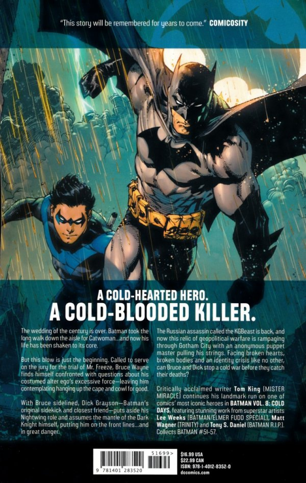 BATMAN VOL 08 COLD DAYS SC