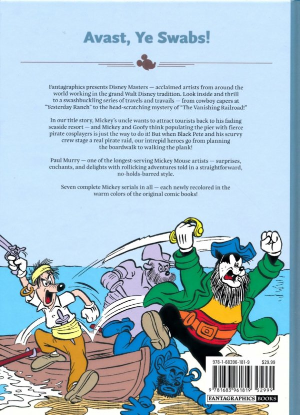 DISNEY MASTERS MICKEY MOUSE THE PIRATES OF TABASCO BAY HC