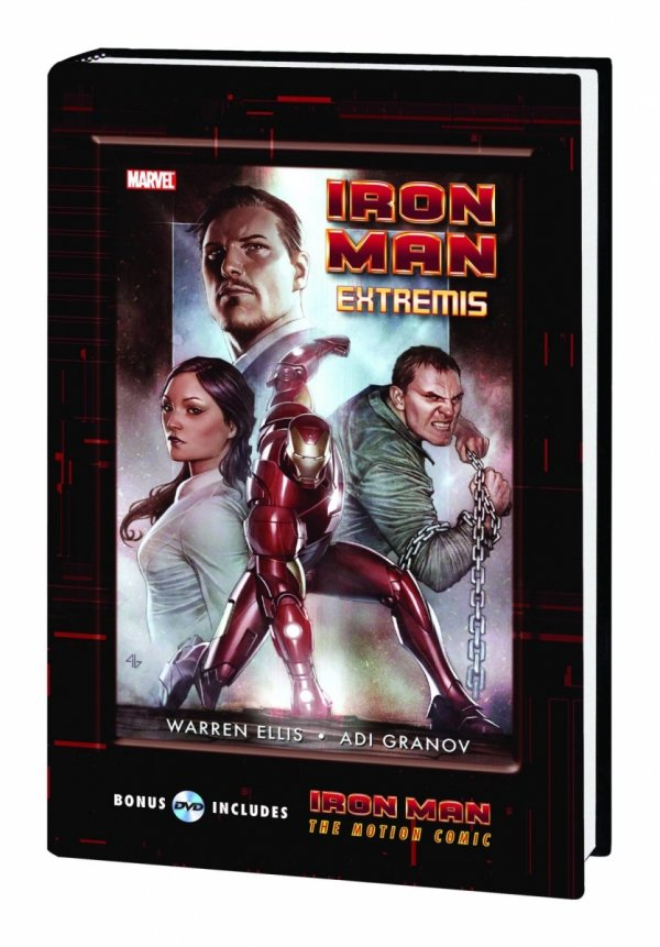 IRON MAN EXTREMIS HC (WITH MOTION COMIC DVD) *