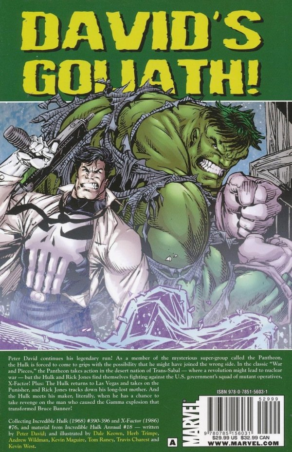 HULK VISIONARIES PETER DAVID VOL 08 SC