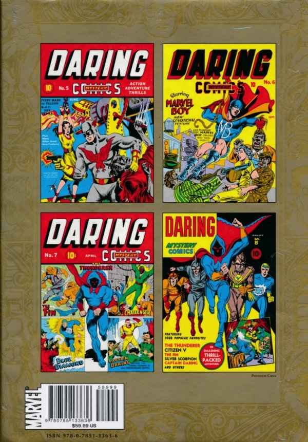 MARVEL MASTERWORKS GOLDEN AGE DARING MYSTERY VOL 02 HC (STANDARD COVER)