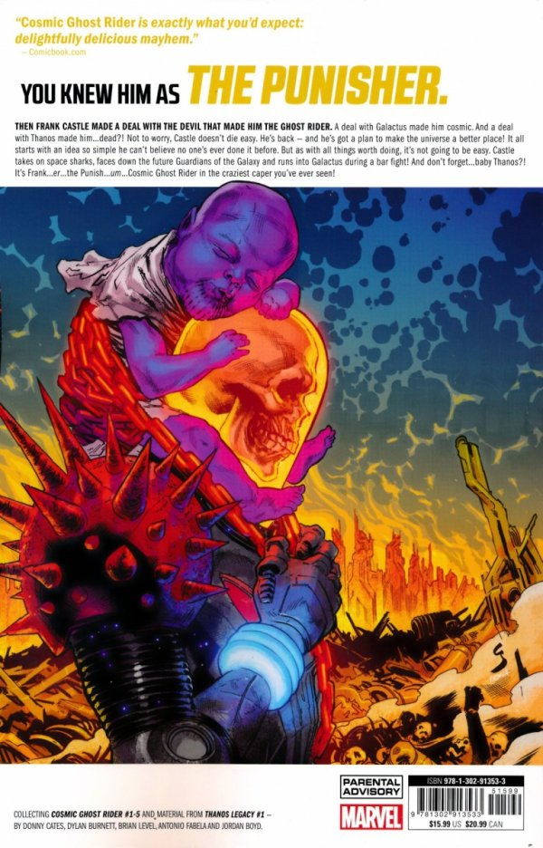 COSMIC GHOST RIDER BABY THANOS MUST DIE SC **