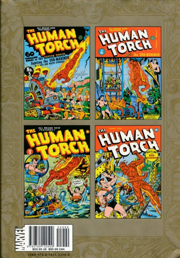 MMW GOLDEN AGE HUMAN TORCH HC VOL 02