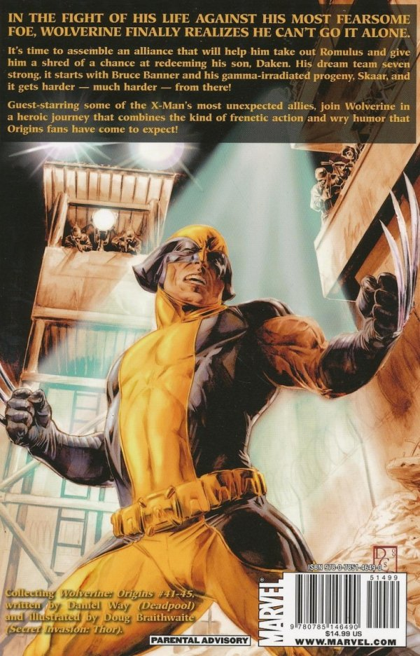 WOLVERINE ORIGINS SEVEN THE HARD WAY SC