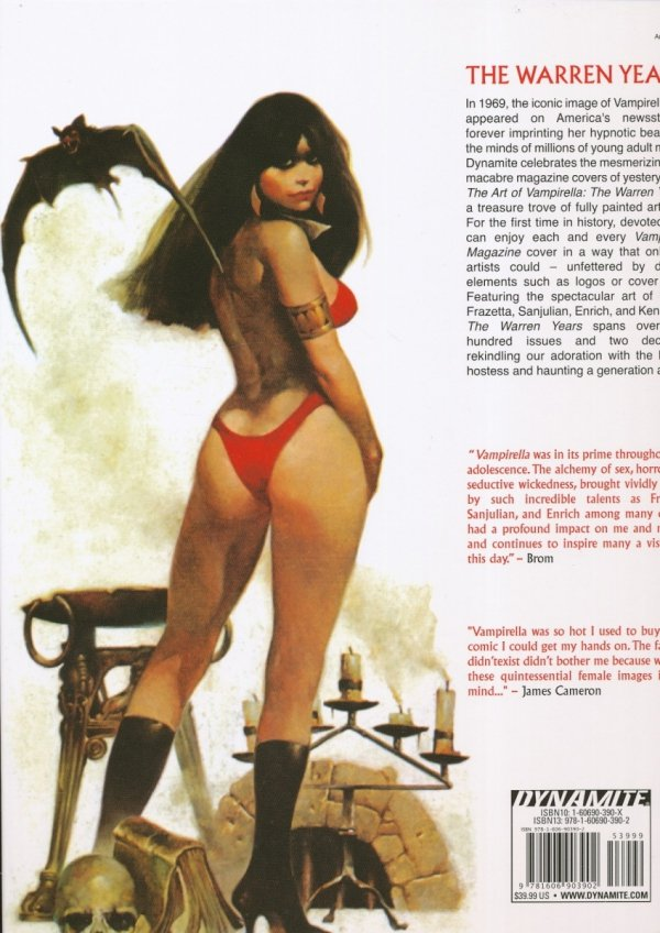 ART OF VAMPIRELLA THE WARREN YEARS HC