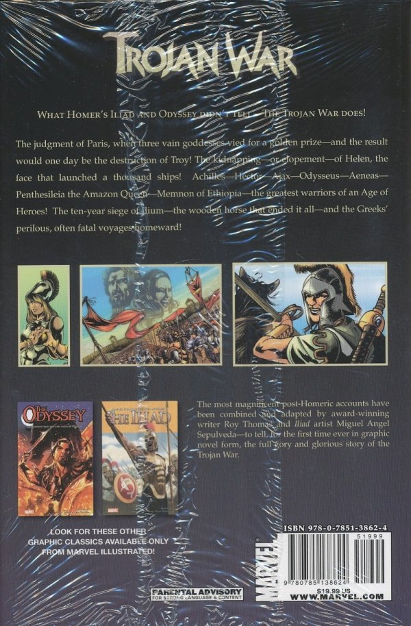 MARVEL ILLUSTRATED TROJAN WAR HC