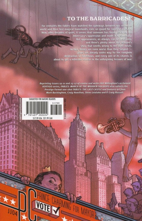 FABLES VOL 04 MARCH OF THE WOODEN SOLDIERS SC (2005 EDITION)