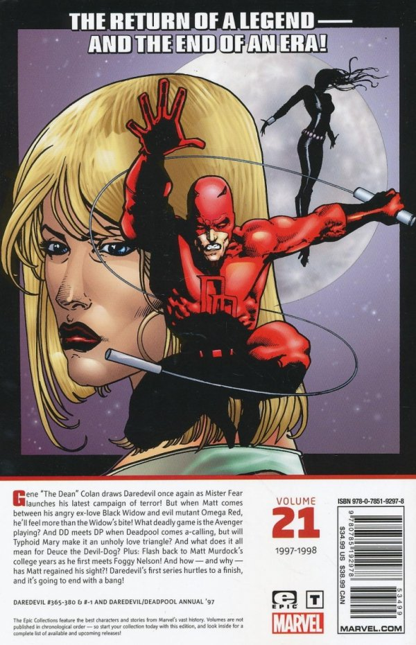 DAREDEVIL EPIC COLLECTION WIDOWS KISS SC