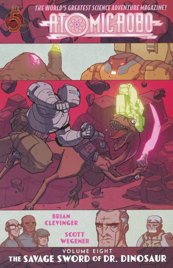 ATOMIC ROBO VOL 08 AND THE SAVAGE SWORD OF DR DINOSAUR SC