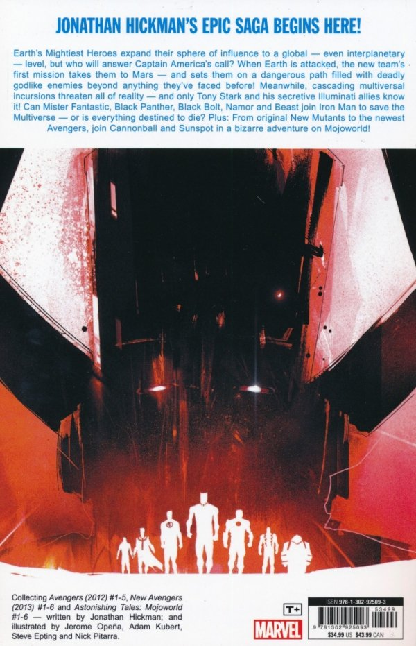 AVENGERS BY JONATHAN HICKMAN THE COMPLETE COLLECTION VOL 01 SC