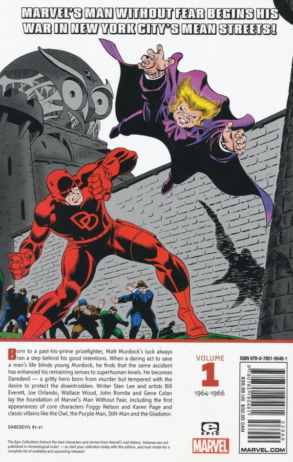 DAREDEVIL EPIC COLLECTION MAN WITHOUT FEAR TP