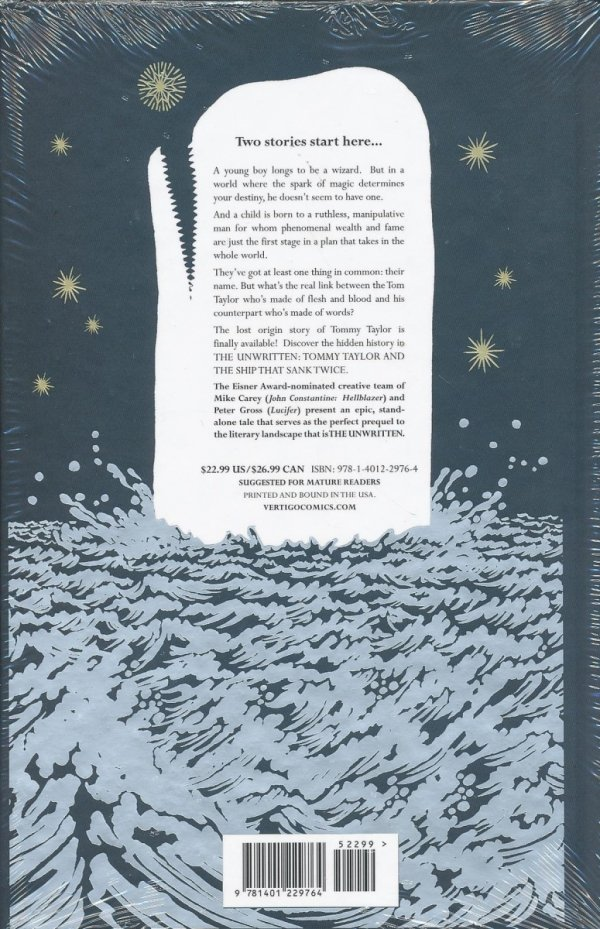 UNWRITTEN TOMMY TAYLOR AND THE SHIP THAT SANK TWICE HC