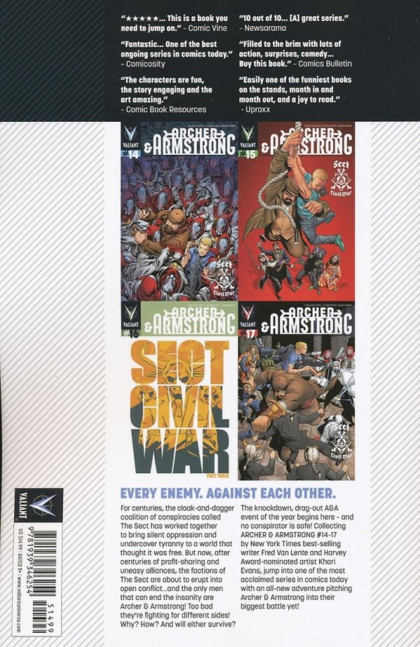 ARCHER AND ARMSTRONG VOL 04 SECT CIVIL WAR SC
