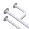 Uchwyt Umywalkowy dla Niepełnosprawnych prawy 50cm biały fi32 + MASKOWNICE