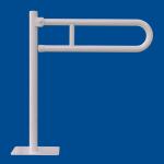 Uchwyt Uchylny WC dla Niepełnosprawnych wolnostojący 85cm biały fi32