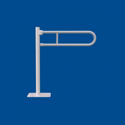 Uchwyt Uchylny WC Wolnostojący dla Niepełnosprawnych 80 cm biały fi25