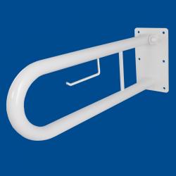 Uchwyt Uchylny dla Niepełnosprawnych z zawieszką na papier 85cm biały fi32