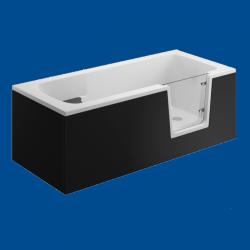 Obudowa wanny panel boczny czarny uniwersalny VOVO / AVO 180cm
