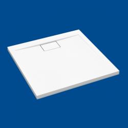 Brodzik posadzkowy najazdowy dla osób starszych i niepełnosprawnych biały akrylowy 80x80