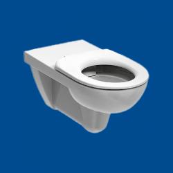 WC miska wisząca dla osób niepełnosprawnych bez kołnierza RIMFREE