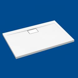 Brodzik posadzkowy najazdowy dla osób starszych i niepełnosprawnych biały akrylowy 120x90